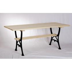 Stół ogrodowy duży z półką