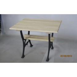 Stół ogrodowy mały z półką