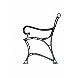 Aluminiowa noga do ławki Królewskiej z podłokietnikiem