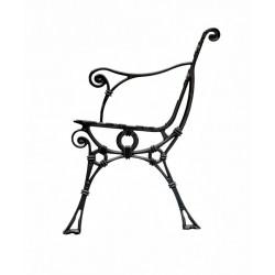Aluminiowa noga do ławki Retro z podłokietnikiem
