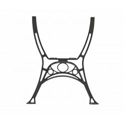 Aluminiowa noga do stolika Królewska/Retro