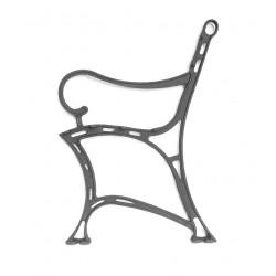 Noga do ławki Królewskiej z podłokietnikiem